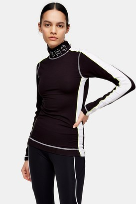 Topshop Black Jersey Layering Ski Top by SNO