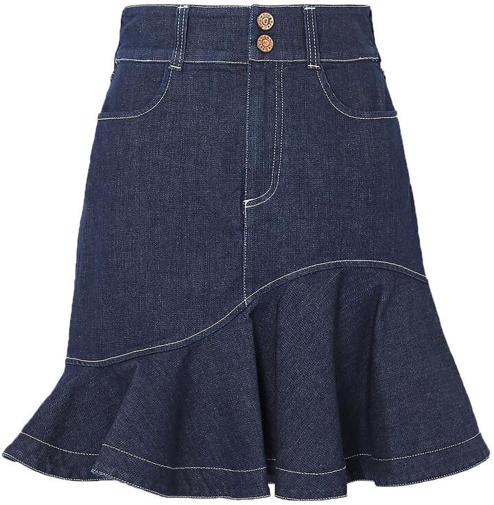 See by Chloe Fluted Denim Mini Skirt