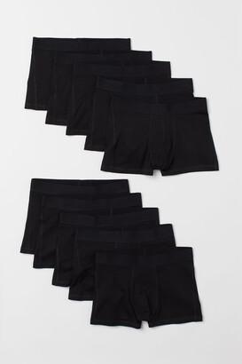 H&M 10-pack Short Boxer Shorts - Black