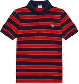 Paul Smith Romaric Stripe Polo Shirt, Navy, 16 Years