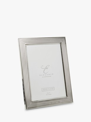 WIDDOP and Co. Elegance by IMPRESSIONS Herringbone Photo Frame, Silver Plated