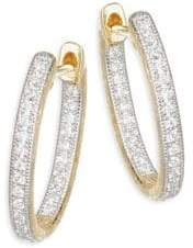 Jude Frances Lisse Diamond Small Oval Hoop Earring