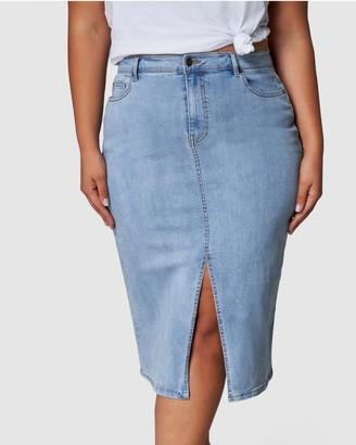 Indigo Tonic - Women's Blue Denim skirts - Cari Denim Skirt - Size One Size, 14 at The Iconic