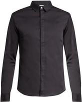 Wooyoungmi Silk collar cotton-poplin shirt