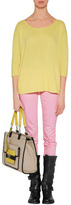 Dear Cashmere Gleam Yellow Cashmere Wide Neck Pullover