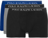 Polo Ralph Lauren Three-pack Stretch-cotton Jersey Boxer Briefs - Multi