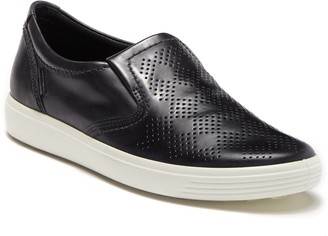 Ecco Soft 7 Slip-On Leather Sneaker