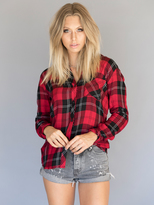 Rails Hunter Button Down in Red Tartan