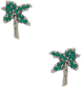 Marc Jacobs Strass Palm Tree Studs
