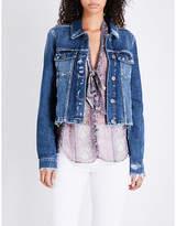 Paige Villa cropped frayed-edge denim jacket