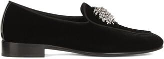 Giuseppe Zanotti Crystal-Brooch Detail Loafers