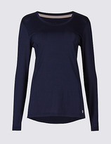 M&S Collection Quick Dry Dipped Hem Top