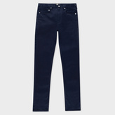 Paul Smith Men's Slim-Fit Navy Stretch-Cotton Trousers