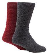 Mantaray Set Of Two Wool Blend Textured Boot Socks