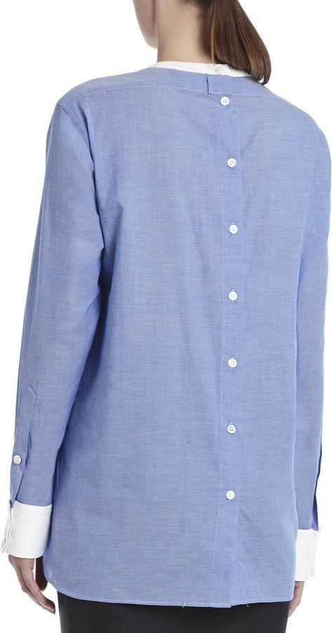 BCBGMAXAZRIA Kelin Tuxedo Shirt
