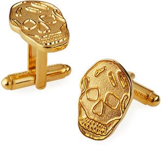 Alexander McQueen Men's Golden Skull Cufflinks