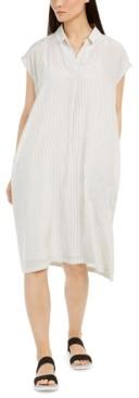 Eileen Fisher Striped Silk Dress