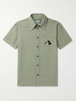 Gucci + Disney Appliqued Checked Wool Shirt