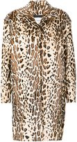 Yves Salomon animal print coat - women - Silk/Goat Fur - 38