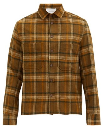 KING & TUCKFIELD Checked Wool-flannel Shirt - Brown Multi