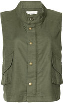 The Great Army vest - women - Cotton/Linen/Flax/Polyurethane/Tencel - 0