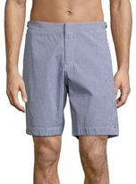 Orlebar Brown Dane II Gingham Cotton Shorts