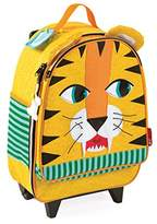 Janod Suitcase Tiger Children's Luggage Trolley, 45 cm, 25 Liters, Multicolour