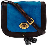 Tignanello As Is Glazed Vintage Leather Saddle Crossbody Bag