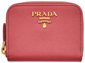 Prada Pink Mini Zip Around Wallet