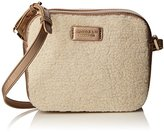 Modalu Womens Freya Cross-Body Bag Metallic Shearling