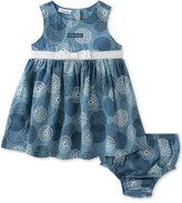 Calvin Klein Floral-Print Denim Dress, Baby Girls (0-24 Months)