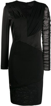 Philipp Plein Panelled Fitted Dress