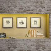 INTELLIGENT DESIGN Intelligent Design Morning News Framed Gel Coat 3-pc. Canvas Art