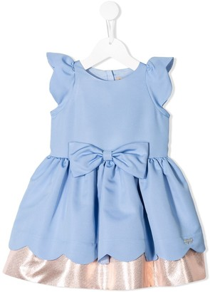 Hucklebones London Scalloped Bodice Dress