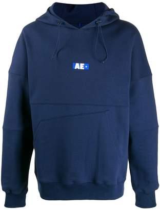 Ader Error AE asymmetric-pocket hoodie