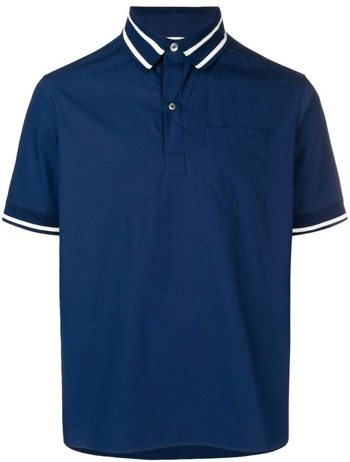 Valentino striped trim polo shirt