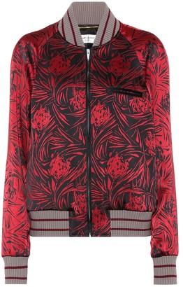 Saint Laurent Printed satin bomber jacket