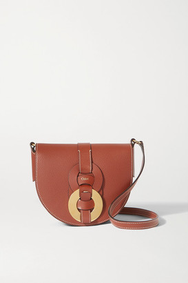 Chloé Darryl Small Textured-leather Shoulder Bag - Brown
