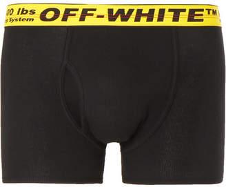 Off-White Off White Stretch-Cotton Boxer Briefs
