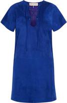 Emilio Pucci Lace-up suede mini dress