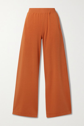 L'Agence Campbell Stretch Cotton And Modal-blend Wide-leg Pants - Orange