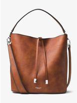Michael Kors Miranda Large Burnished Leather Shoulder Bag