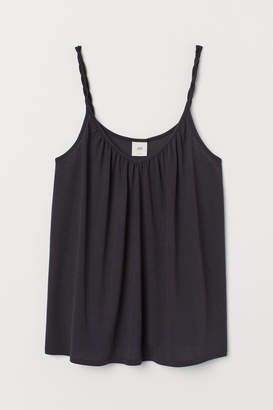 H&M Top with Twisted Straps - Gray
