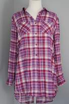Entro Plaid Long Shirt