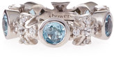Elizabeth Showers Maltese Topaz and Sapphire Ring, Size 7