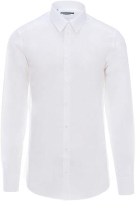 Dolce & Gabbana Martini Fit Shirt In Jacquard Cotton