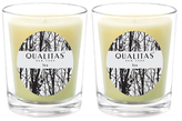 Qualitas Candles Tea Beeswax Candles (Set of 2) (6.5 OZ)