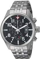 Citizen Men's Quartz Stainless Steel Casual Watch, Color:Silver-Toned (Model: AN3620-51E)