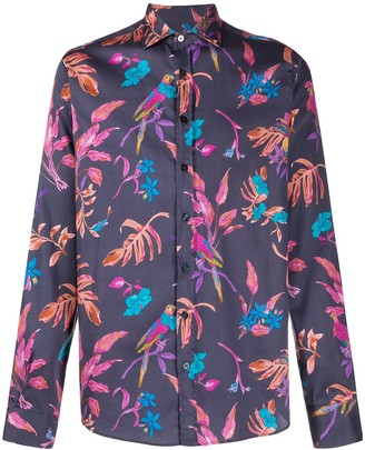 Etro Botanical Print Long Sleeve Shirt