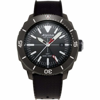 Alpina Men's Seastrong Diver Titanium/Stainless Steel Swiss Quartz Diving Watch with Rubber Strap